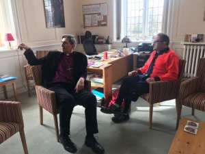 Meeting the Bishop of Winchester